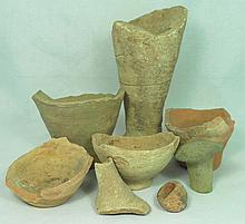 Collection of 8 Near Eastern pottery fragments