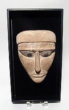 Egyptian 'mummy' mask from anthropoid sarcophagus