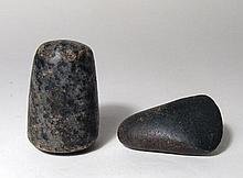 Egyptian axe-head and stone pestle