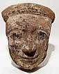 Large Egyptian wood mummy 'mask'