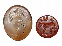 2 Sasanian seals, Ex Edgar Banks collection, UK