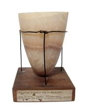A choice Egyptian alabaster cup, Old Kingdom