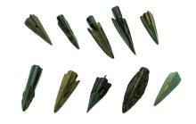 Group of 10 Roman Republic bronze arrowheads
