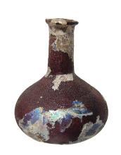 A lovely Roman aubergine glass perfume bottle
