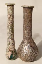 A pair of lovely Roman glass bottles