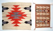 An attractive pair of Navajo rugs.
