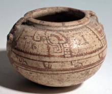 Rare Nicoya Janus-form portrait bowl, Ometepe Island