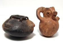 A pair of Pre-Columbian ceramic vessels