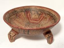 An attractive Nicoya polychrome tripod bowl