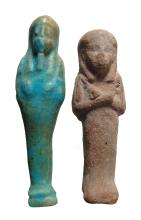 A pair of Egyptian ushabtis, Late Period