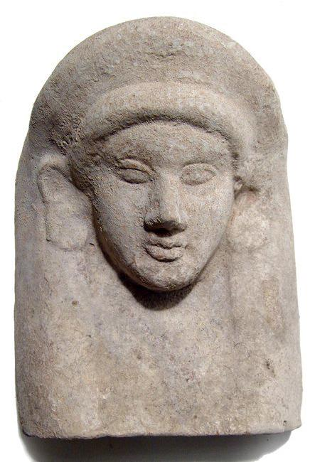 A stunning Greek terracotta protome of a female