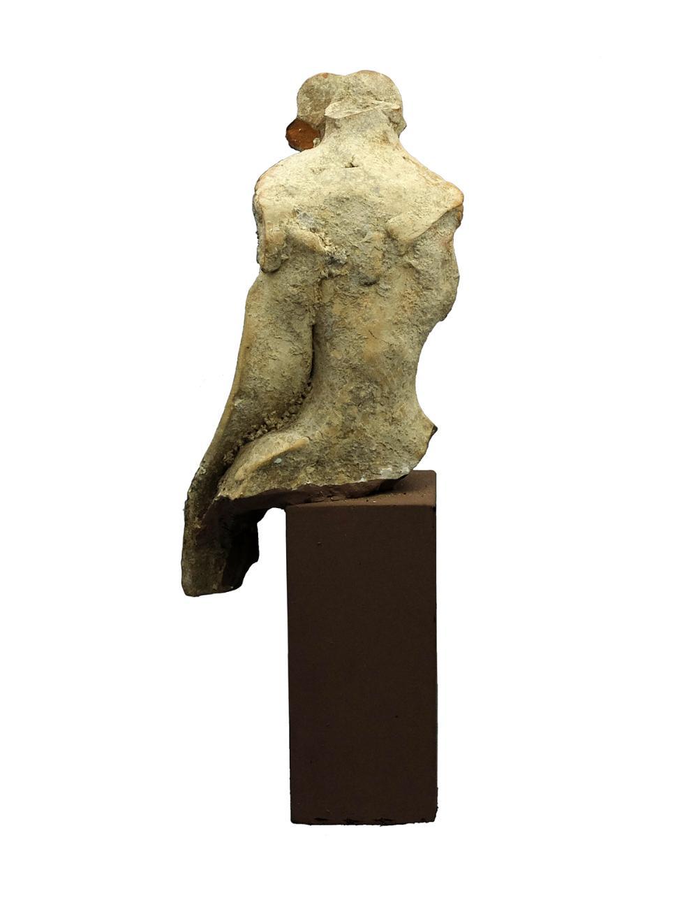 A Greek terracotta head of a bearded man