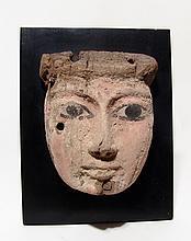 Egyptian painted wood mask, c. 1075 - 343 BC