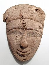 Egyptian wooden mummy 'mask', Late Period