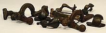 A lot of 9 bronze Roman fibulae