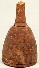 An Egyptian turned wood cosmetic or oil vessel