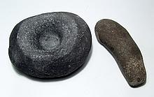 Neolithic stone mortar and pestle, Near East