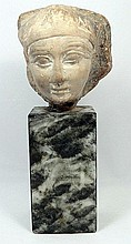 An Egyptian limestone trial piece
