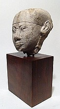 Egyptian limestone head of a man