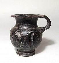 Greek Black-Ware Olpe, Magnia Graecia