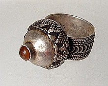 A European silver ring, 15th-16th Century