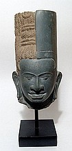 An attractive Kymer-style stone head from Cambodia