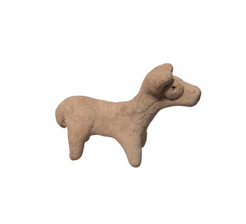 A Near Eastern Terracotta Bull Figurine