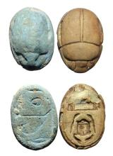 A pair of Egyptian scarabs