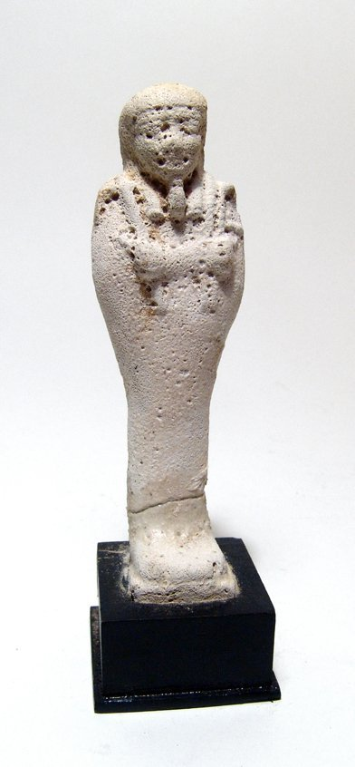 Egyptian unglazed faience ushabti, Late Period