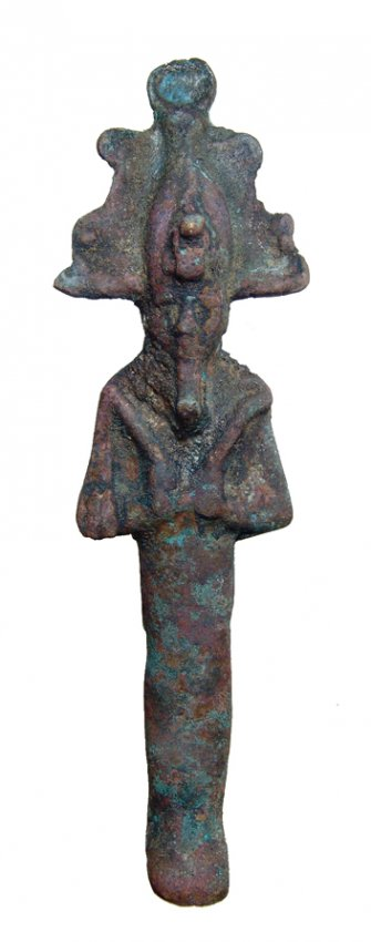 Egyptian bronze figure of Osiris, Late Period