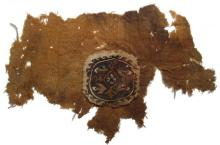 Coptic textile fragment with central medallion