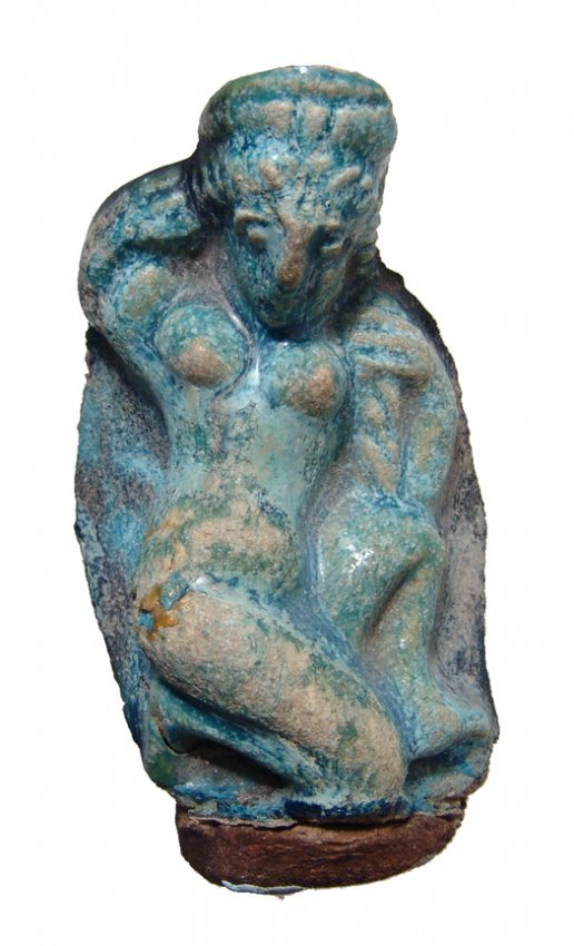 Egyptian blue glazed figure of Aphrodite, Roman