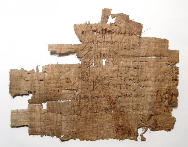 Greek document written on papyrus in cursive