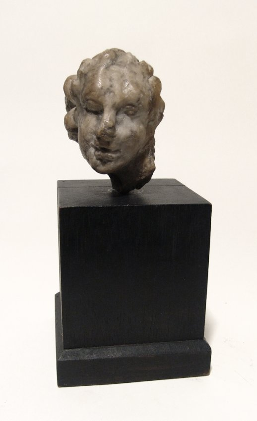 A Roman marble head of a woman