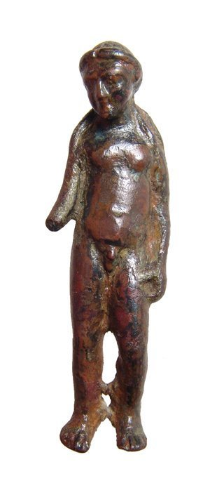 A nice Roman bronze figure of Apollo