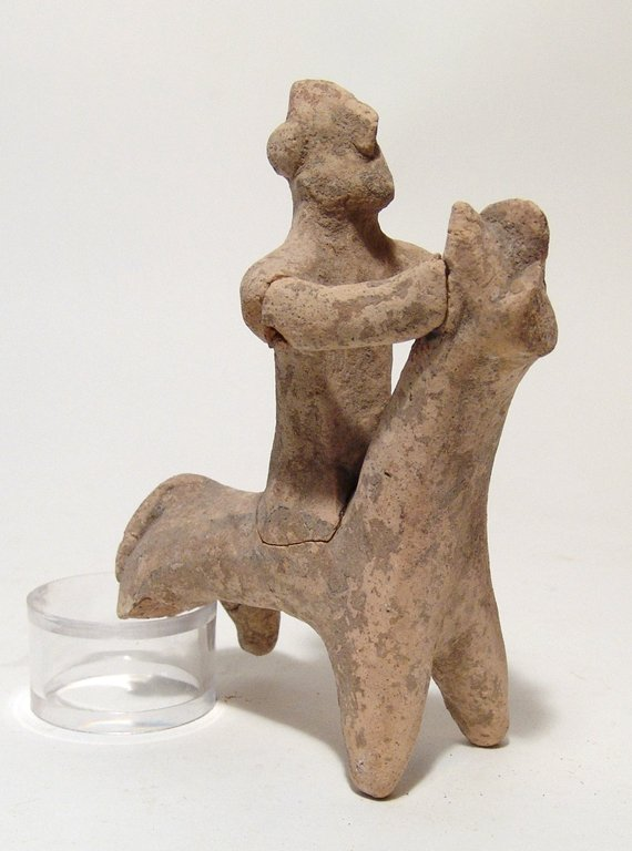 A Cypriot terracotta horse and rider