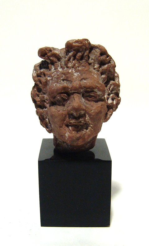 Hellenistic terracotta head of a youth, Alexandria