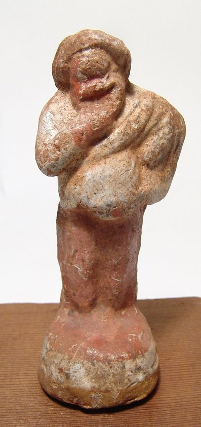 Hellenistic terracotta figure of an actor