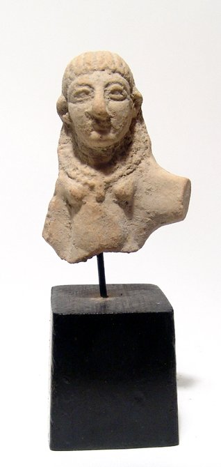 Attractive Levantine terracotta bust of Astarte