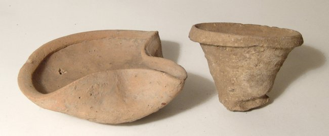 Lot of 2 Bronze Age Holy Land vessels