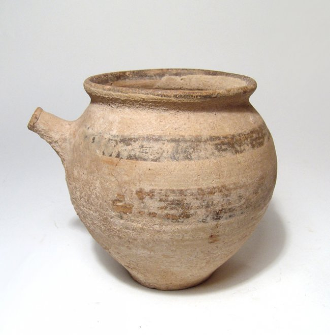A Cypriot bichrome spouted vessel