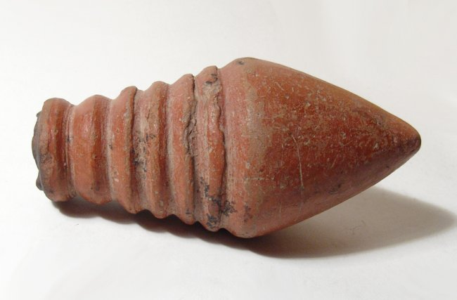 A Roman orange-ware unguentarium