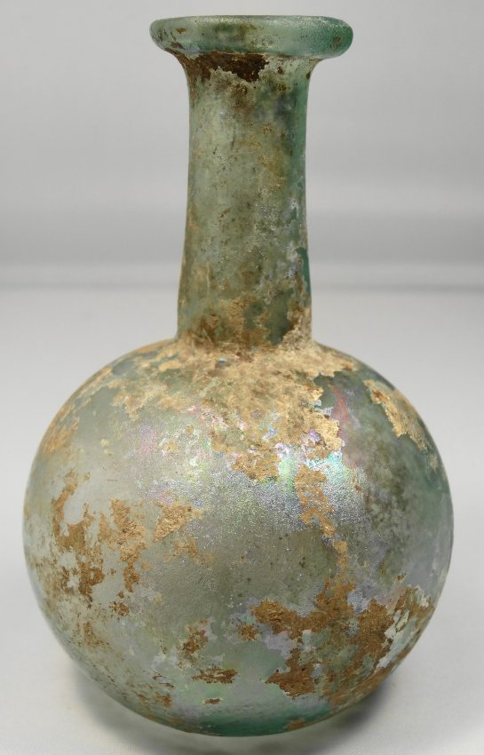 A Roman light blue glass vessel