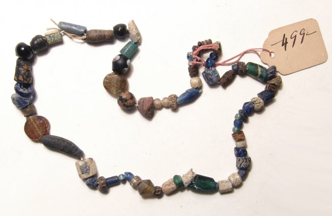 A necklace composed of Roman glass beads