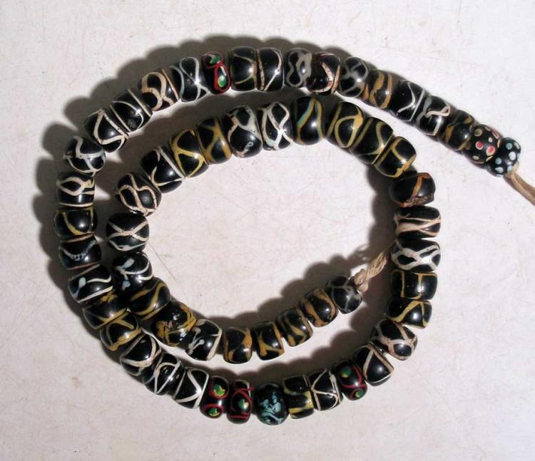 A strand of gorgeous Venetian glass beads