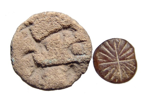 A pair of ancient stamp seals