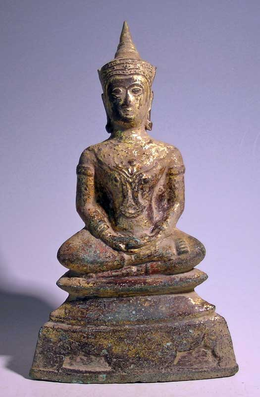 A magnificent Thai bronze Buddha figure