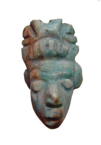 A nice Mayan-style greenstone amulet