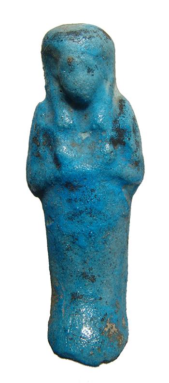 An egyptian turquoise glazed faience ushabti for Faience turquoise