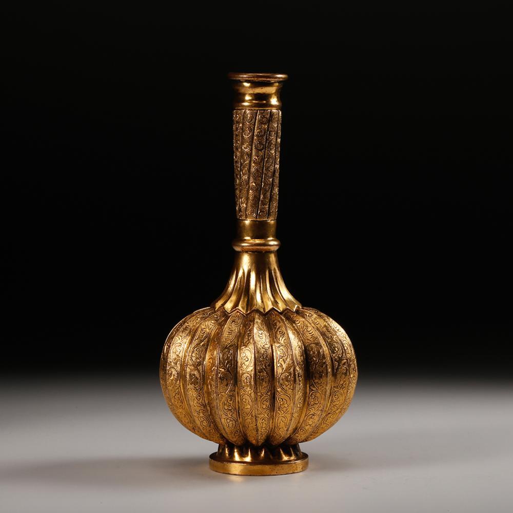 CHINESE GILT BRONZE VASE